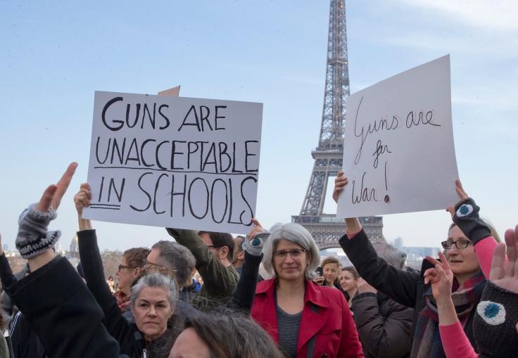 France Student Gun Protests